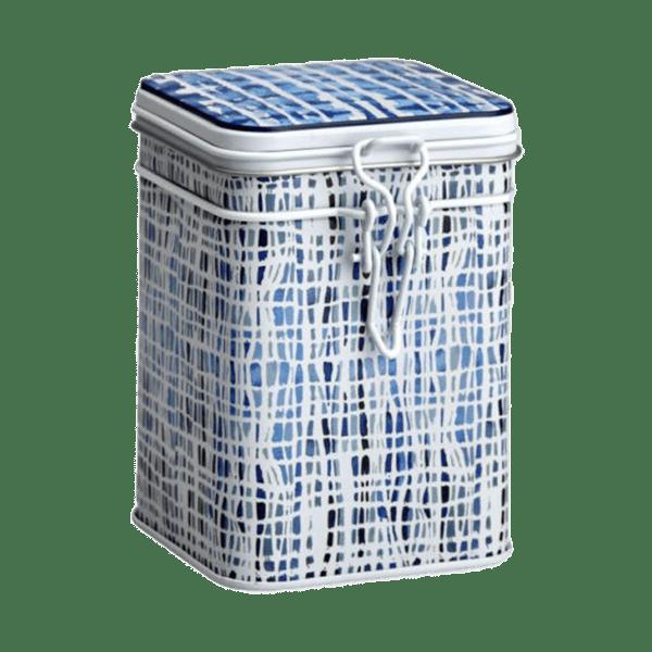 Lattina decoro bianco e blu Lines