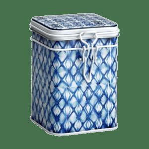 Lattina decoro bianco e blu Diamonds