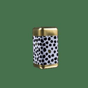 Lattina decoro Oro e Nero a Pois