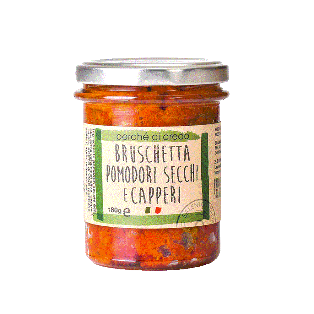 Bruschetta pomodorini secchi e capperi
